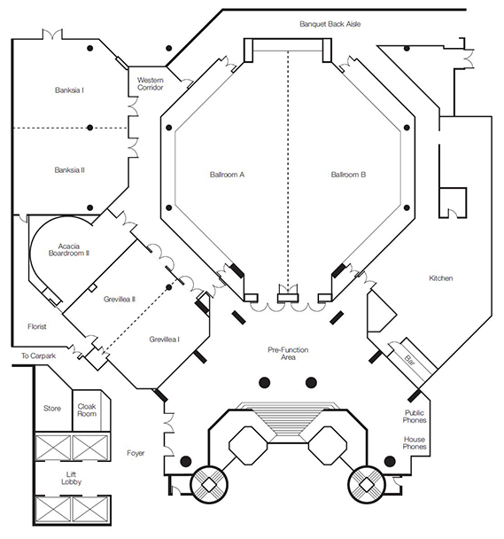 intercontinental adelaide conference floorplan